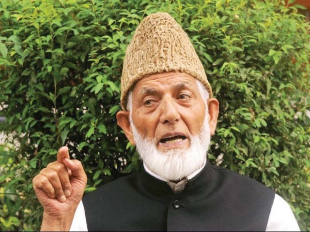 Gilani calls, crackdown and charge sheets filed against resistance leaders propaganda used to terminate the Kashmir Movement Hurriyat leader. FILE PHOTO