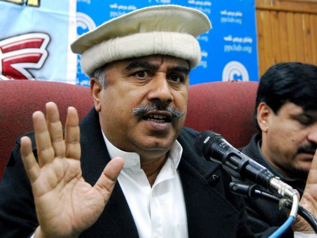 Khyber-Pakhtunkhwa Information Minister Shah Farman. PHOTO: PPI/FILE