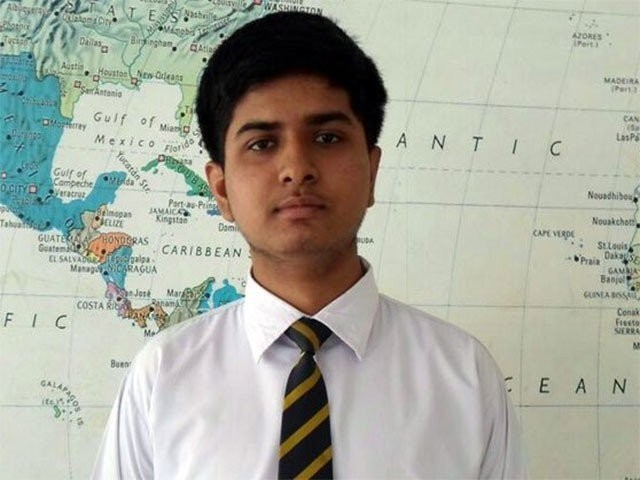 Muhammad Haider Khan studies in Bahria College Karsaz Karachi. PHOTO: EXPRESS