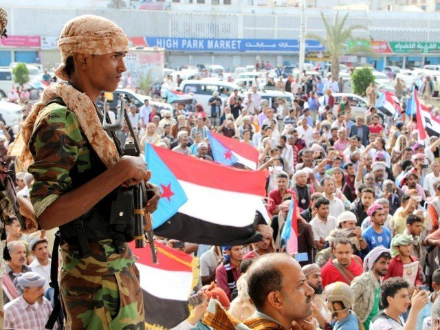 Yemen's president says fighting in Aden amounts to 'coup'