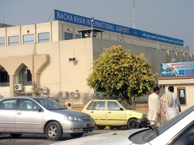 bacha khan international airport photo express file