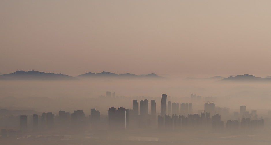 The city skyline of Incheon is pictured early morning in an aerial view south of Seoul, South Korea. PHOTO: REUTERS