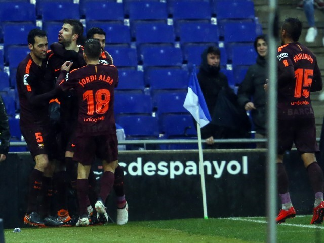 Barcelona captain Iniesta defends Pique after Espanyol goal celebration