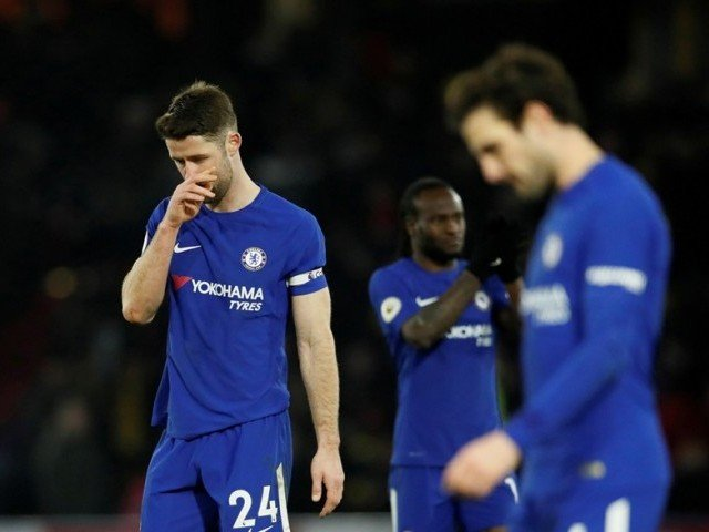 Watford crushes 10-man Chelsea Four-1 in EPL