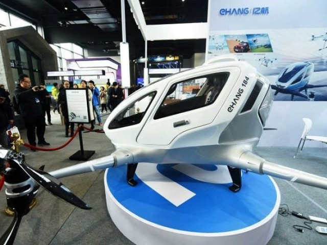 An EHang 184 on display at the World Internet Conference in China last year. PHOTO: REUTERS