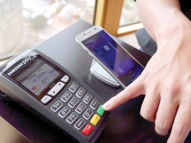 The branchless banking platform would enable bank accountholders to do financial transactions through their mobile phones, including the simple feature phones. PHOTO: FILE
