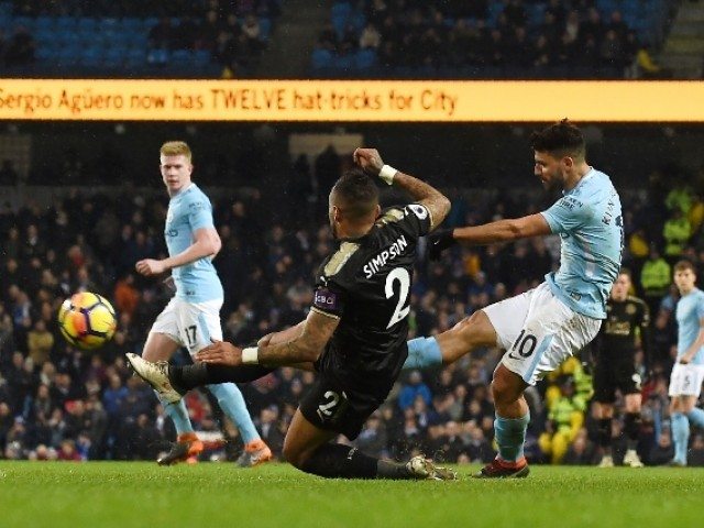 EPL: Aguero nets four in Man City rout