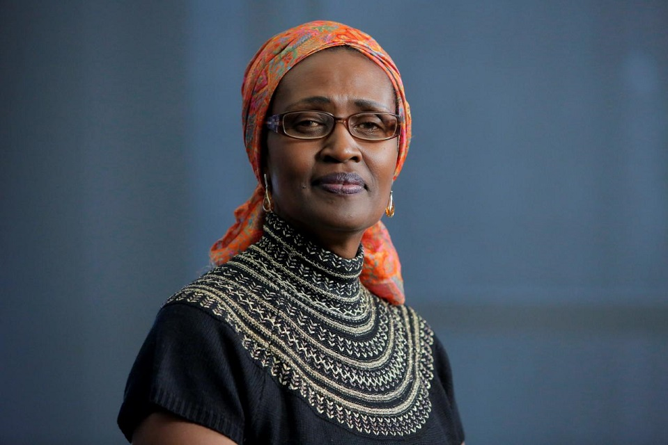 Oxfam International Executive Director Winnie Byanyima poses for a portrait following an interview in New York, NY, US, February 11, 2018. PHOTO: REUTERS
