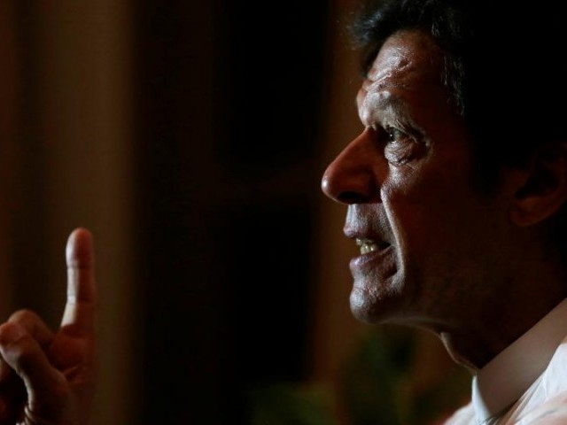 Pakistani opposition politician Imran Khan speaks with Reuters correspondents at his home in Bani Gala, outside Islamabad, Pakistan October 30,  2016. PHOTO: REUTERS