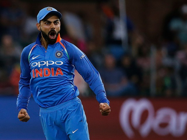 Kohli believes India can now eye the 2019 World Cup with more confidence after their series win against South Africa. PHOTO: AFP