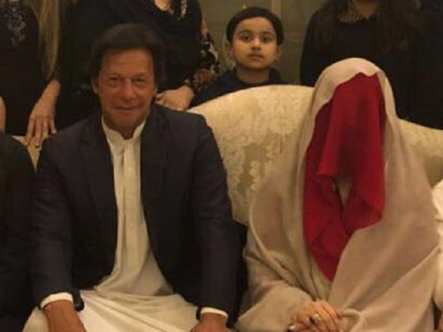 Imran Khan and Bushra Wattoo. PHOTO: PTI