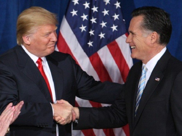 On Twitter: Trump and his fiercest critic Romney friends again