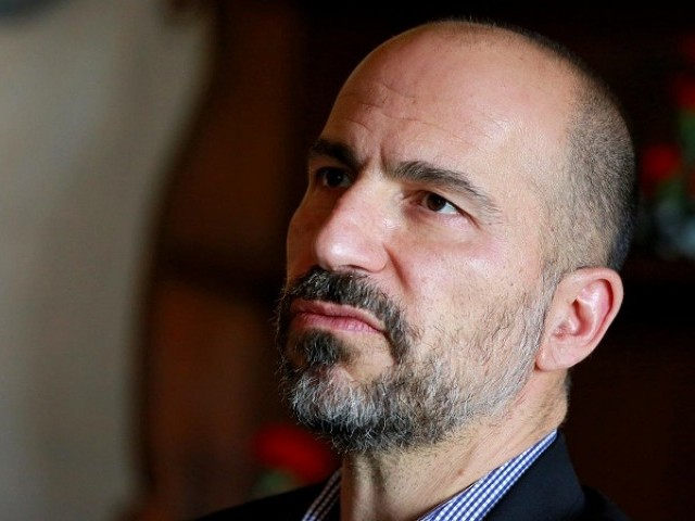 Dara Khosrowshahi, Chief Executive Officer (CEO) of Uber, speaks with the media in New Delhi, India, February 22, 2018.  PHOTO: REUTERS