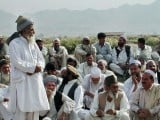 File photo of a jirga (consultative body) meeting in progress. PHOTO: AFP