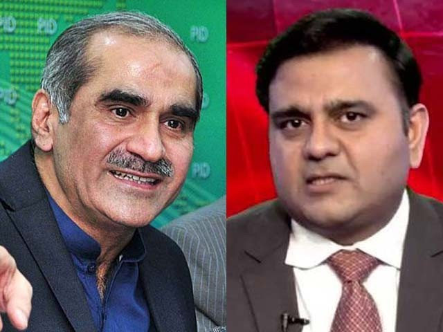 Saad Rafique serves Rs5bn defamation notice to PTI's Fawad Chaudhry