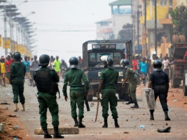 Unrest followed Guinea's disputed February 4 election leading to the death of at least 10 people. PHOTO: AFP/File