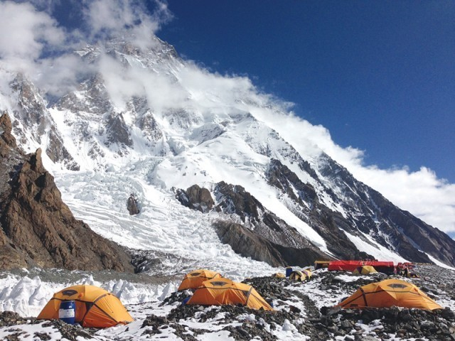 The Polish team arrived at the K2 base camp late last year, enduring sub-zero temperatures and gale-force winds. PHOTO: EXPRESS