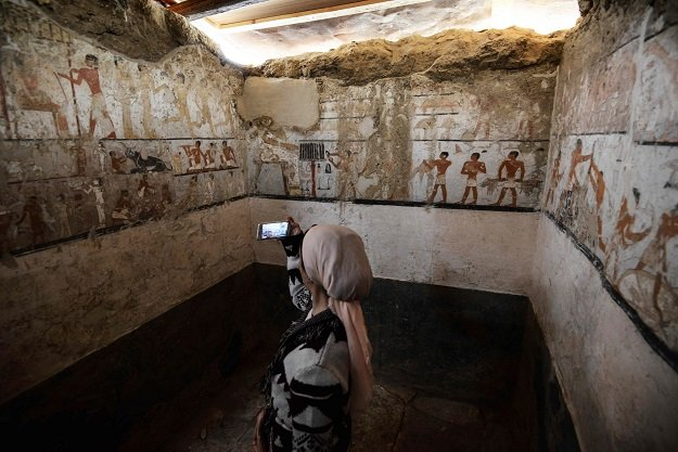 Old Kingdom style tomb for woman discovered in Egypt's Giza