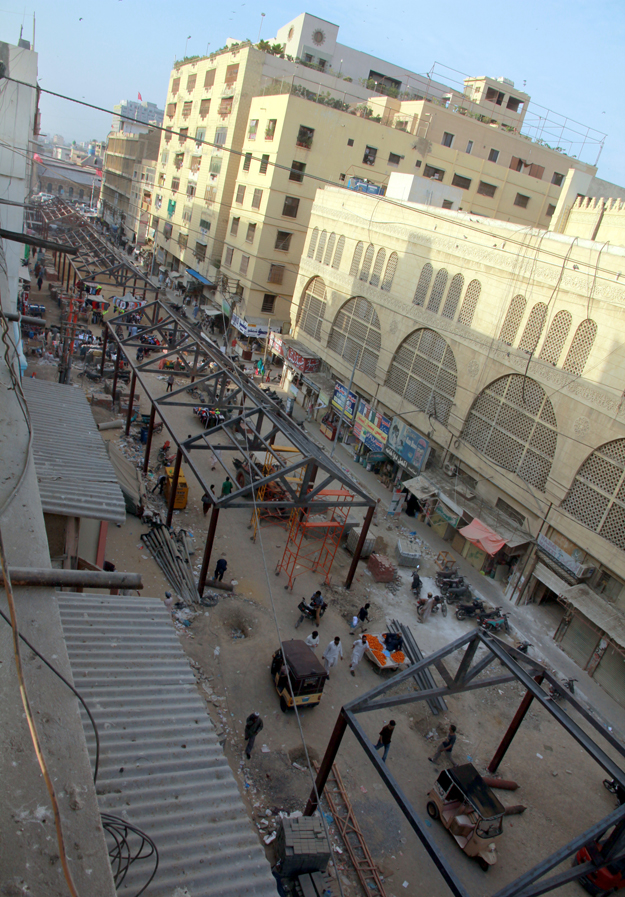 The food street project is part of a bigger plan to overhaul the Saddar area. PHOTO: ATHAR KHAN