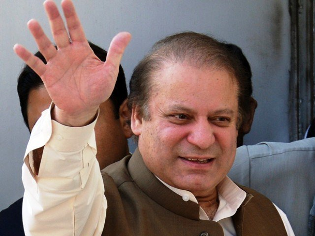 Shoe hurled at former Pakistan PM Nawaz Sharif