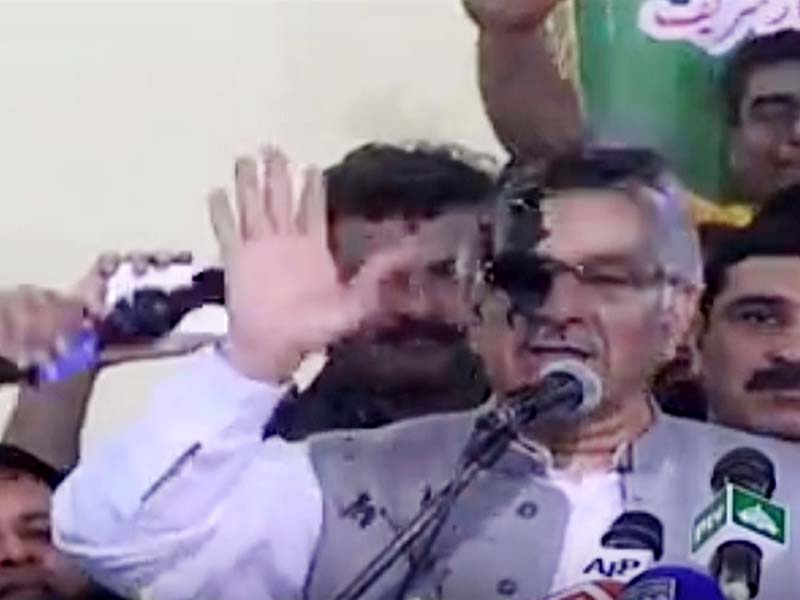 Ink thrown at Pak Foreign minister Khawaja Asif