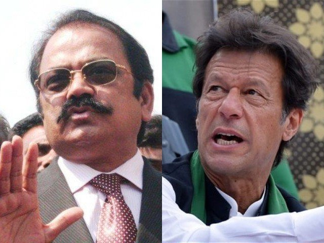 'Listen up Rana Sanaullah, I'm going to lock you up in jail,' says Imran Khan. STOCK IMAGES