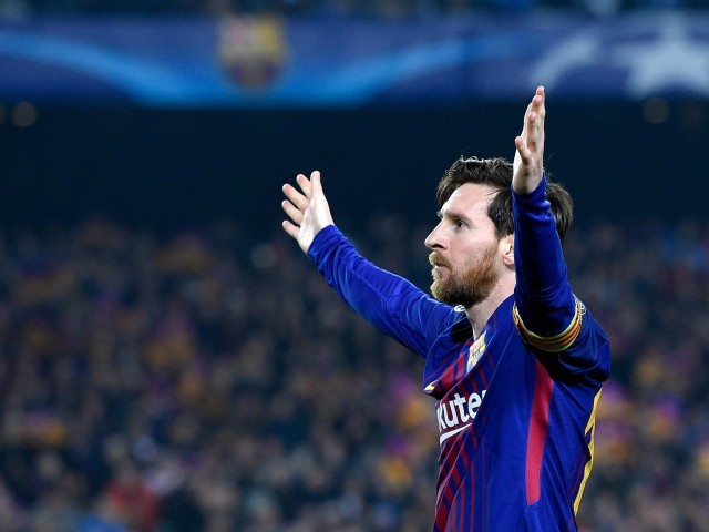 Messi became the second player, behind Ronaldo, to reach hundred goals but did so in less matches than his Portuguese rival. PHOTO: AFP