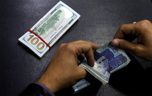 Currency traded sharply lower in the inter-bank market, boosting specific sectors in the stock market. PHOTO: REUTERS