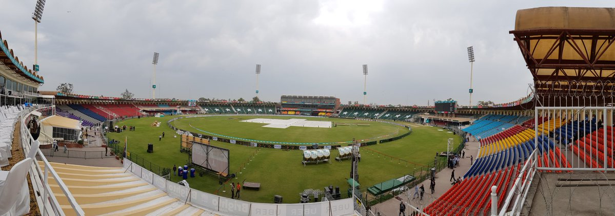 Showers are expected in Lahore on Tuesday during the Peshawar-Quetta eliminator. PHOTO COURTESY: PSL