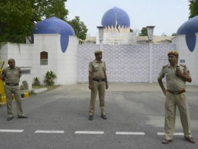 Pakistan High Commission in New Delhi. PHOTO: AFP