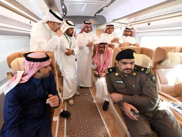 Saudi officials were recently invited to join test runs of the 'Haramain Express' trains to get their feedback prior to the commercial rollout of the tran. PHOTO COURTESY: Saudi Press Agency