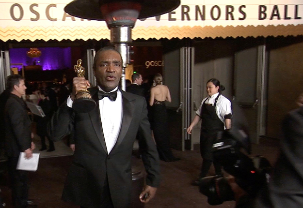 Terry Bryant, accused of stealing Frances McDormand's best actress Oscar at the lavish Governor's Ball party, is seen in this still image from Reuters video in Hollywood, California, US, March 4, 2018.  REUTERS