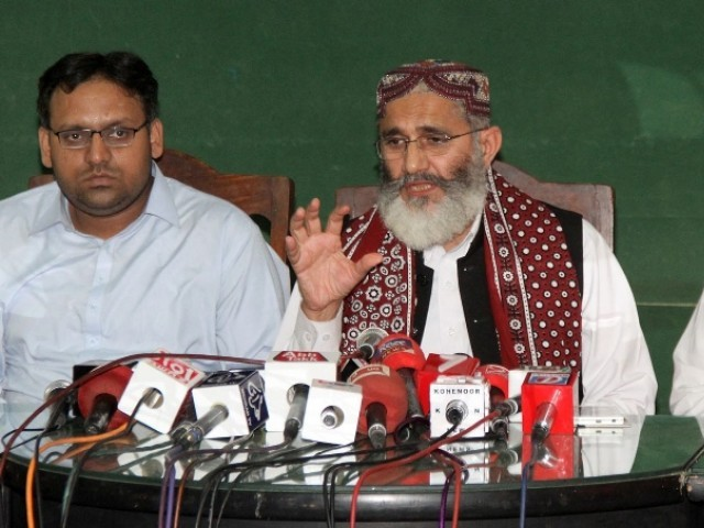 The JI chief lamented that the chief justice of Pakistan did not take notice of the way the Senate elections were held. PHOTO: ONLINE