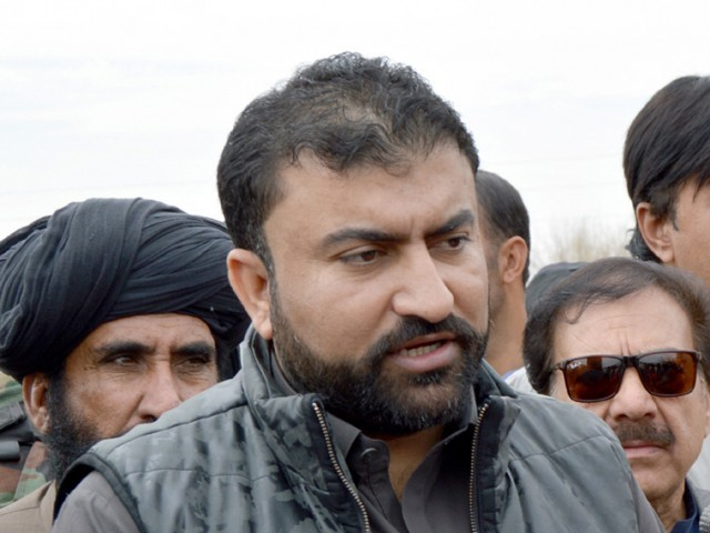 Balochistan Home Minister Sarfraz Bugti. PHOTO: EXPRESS