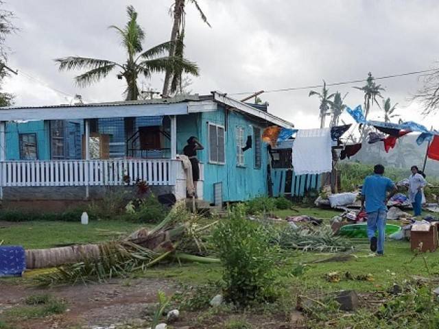 cyclone causes floods in Fiji PHOTO: REUTERS