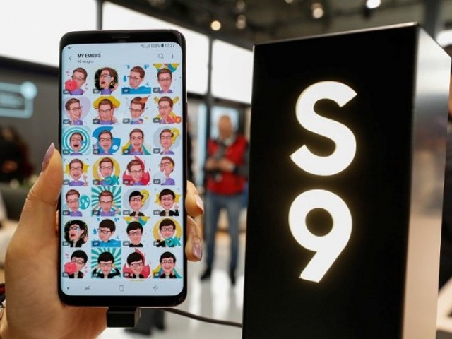 The new Samsung Galaxy S9 Plus mobile is shown during the Mobile World Congress in Barcelona, Spain February 27, 2018. PHOTO: REUTERS