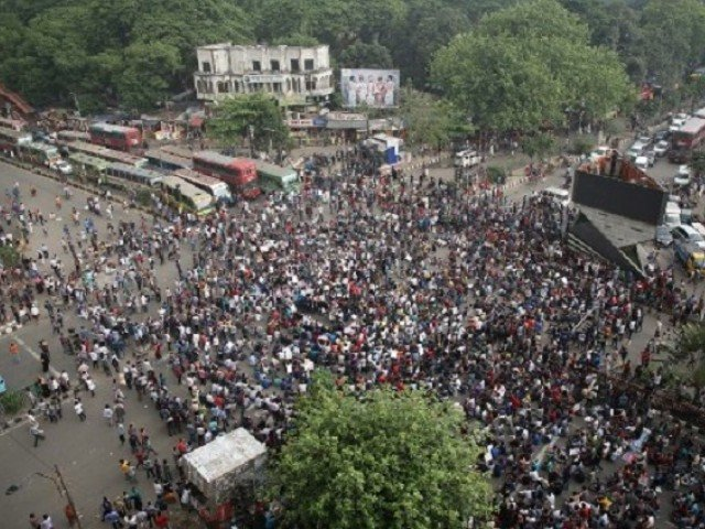Student protests intensify in Bangladesh, as government refuses to slash job quota reserved for 1970 war veterans. PHOTO: AFP