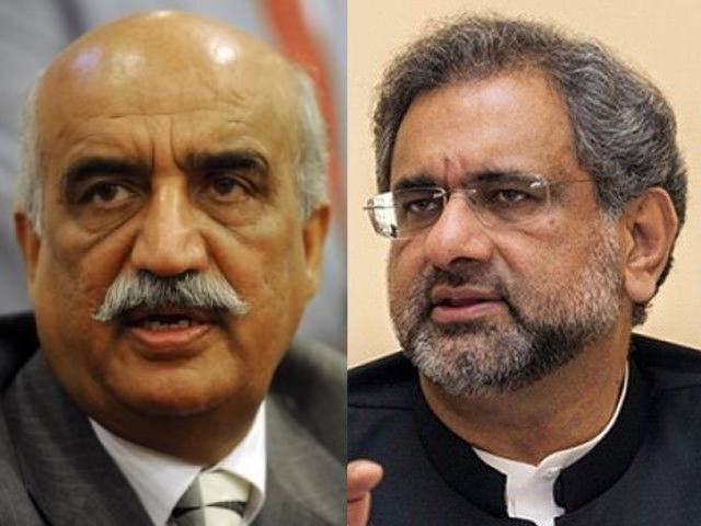 PM, Leader of Opposition in NA discuss caretaker set-up