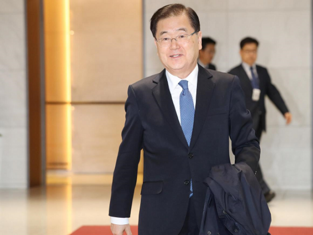 South Korea's national security adviser has flown to Washington to meet his newly appointed US counterpart John Bolton. PHOTO: REUTERS