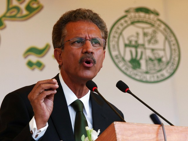 Mayor Karachi Waseem Akhtar. PHOTO:FILE PHOTO
