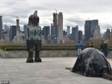 "Huma Bhabha created ""We Come in Peace"" for the sixth annual commission at the New York Metropolitan Museum of Art's roof garden. PHOTO: AFP"