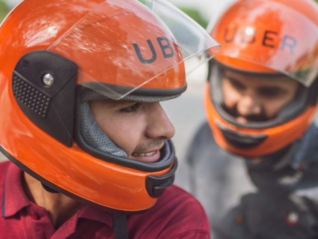 The ride-hailing service, Uber has launched its bike service in Karachi with nominal charges. PHOTO: UBER