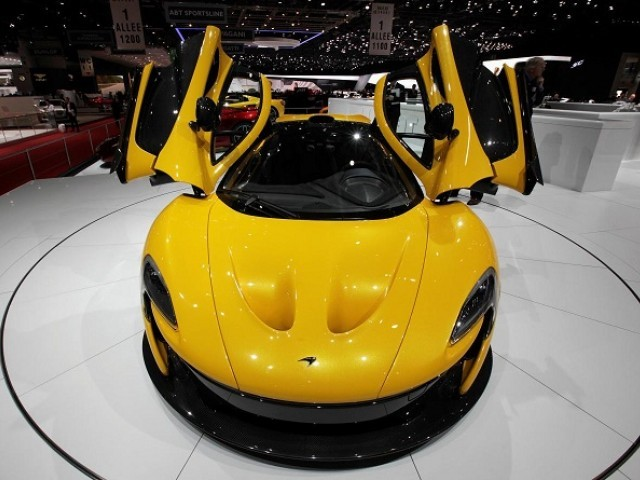 The McLaren P1 car is pictured during the second media day of the 83rd Geneva Car Show at the Palexpo Arena in Geneva March 6, 2013. PHOTO: REUTERS