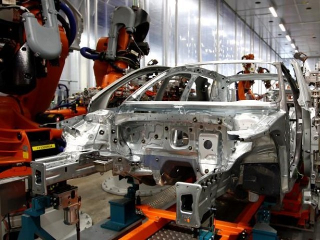 A car manufacturering plant. PHOTO: REUTERS