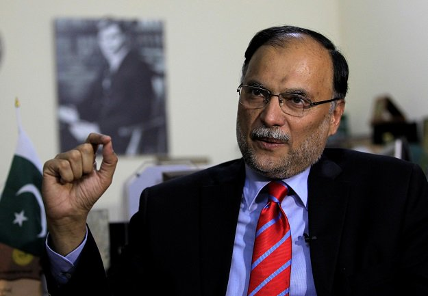 Interior Minister Ahsan Iqbal PHOTO: REUTERS
