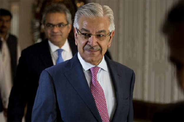 PML-N leader Khawaja Asif. PHOTO: AFP