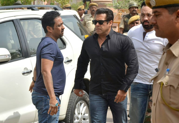 Indian Bollywood actor Salman Khan, one of the Indian movie industry's most bankable stars, has been convicted by a court in Rajasthan state of poaching the rare antelopes known as black bucks in 1998 PHOTO: AFP