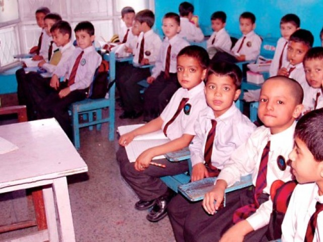 The report highlighting the current net enrollment growth rate of the country of 0.92 per cent predicts that it will take another 60 years to reach the target of zero out-of-school children. PHOTO: M. ALI