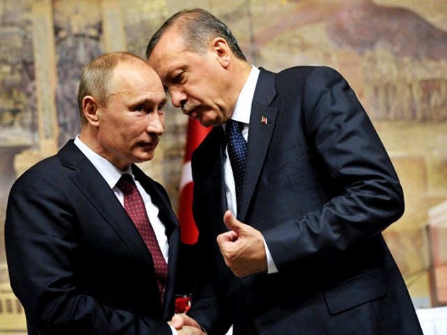 Russian President Vladimir Putin and his Turkish counterpart Tayyip Erdogan. PHOTO: AFP