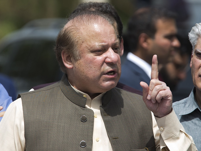 Ousted prime minister Nawaz Sharif. PHOTO: AFP